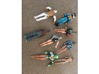 Various action men figures