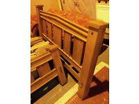 solid OAK 6 ft bed frame