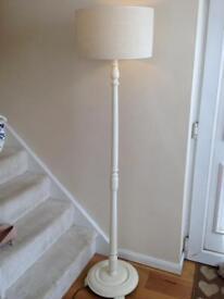 Wooden painted floor lamp