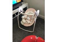 Battery operated baby swing perfect condition