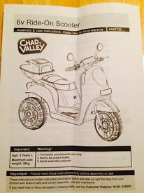 Chad valley 6v electric ride on motorcycle
