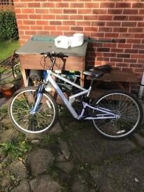 Ladies full suspension mountain bike girls fs26