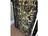 retro vintage curtains interlined heavy fabric