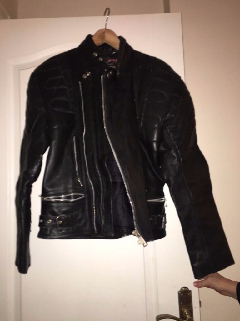 "Mens Leather ""biker style"" jacket in Black"