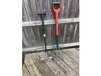 Garden fork and edger