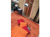 Large rug cushions and lamp