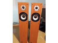 2 sets of floor standing speakers and a sub woofer