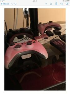 Xbox 360 console, games , controllers ,turtle beach headphones .