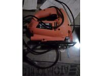 Black adn decker Jigsaw in perfect condition with EXtra blades for different amterials on sale