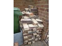 Used Imperial bricks - ideal for breaking up for foundations / hardcore