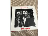 """Queen one vision 12"""" single vinyl record"""
