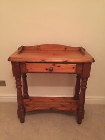 Solid pine side table dressing table