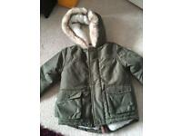 Immaculate boys coat 9-12 months