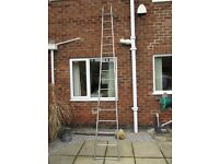 SAFETY MATE 13' FOLDING ROLL UP STEEL COMBI LADDER + PLANK
