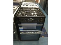 New Ex-Display Beko BDVG674MK 60cm Double Oven Gas Cooker Black £299