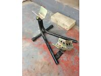 Heavy duty motorcycle front wheel transport stand