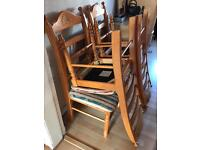6 x solid pine chairs