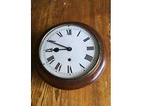 "Antique 10"" school/railway station clock"