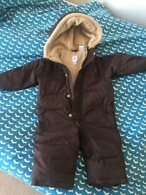 Gap baby all in one snow suit 6-12 months