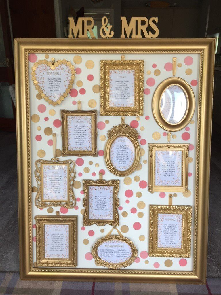 Picture & Photo Frames used for Seating Plans, Table Numbers & Other ...
