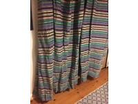 Designers guild pinch pleated lined curtains