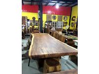 Large Single Slab Natural Wood Table - Conference, Dining, Cafe, Restaurant - Amazing!