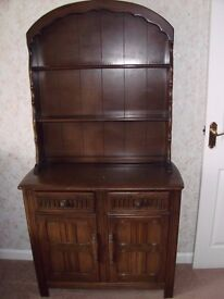 4 Units, Welsh dresser, hifi cabinet, tv stand and corner cabinet