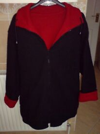 Red and black fleece