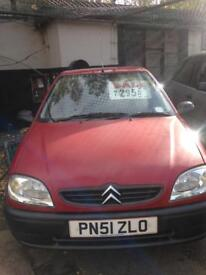 Citroen Saxo first, 2001, low mileage, long mot, px to clear.