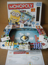Monopoly DESPICABLE ME 2, board game. Includes exclusive Minions. From 2013. Complete.
