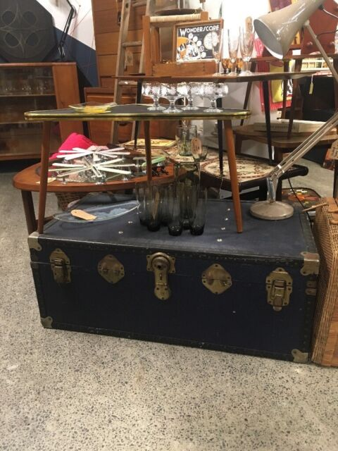 Super Large Antique Vintage Steamer Trunk Coffee Table Storage Box In Newcastle Tyne And Wear Gumtree Evergreenethics Interior Chair Design Evergreenethicsorg