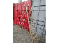 Wooden step ladder for use or upcycling