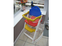Lipski Childs High Chair in Multi Colours in good condition, easy to clean