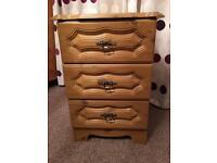 Oak veneer bedside locker
