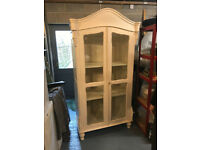 Armoire French reproduction Glass fronted cabinet