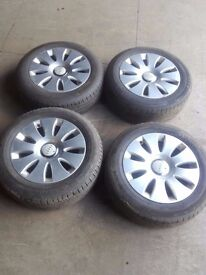 !! CLEARANCE !! Genuine Audi A6 5x112 ALLOY WHEELS WITH TYRES 205/60/16