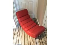 Red Faux Leather Rocker/Gaming Chair