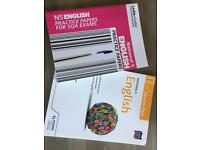 Selection of National5 English pastpapers and textbooks £8