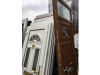 Brown Upvc Door 880 x 2460 -£140-00