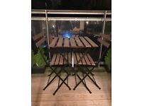 Garden furniture set 2 chairs + table + candleholders