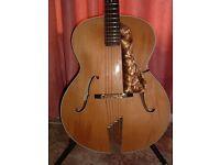 Hofner Senator Archtop Guitar 1952, with hardcase.