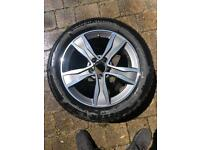 "Mercedes Benz 17"" wheels with winter tires"