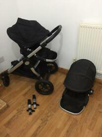 City select double/ converts to single pushchair