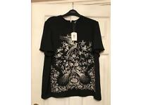 Oasis Osaka Embroidered T-Shirt Top Tee Size 16