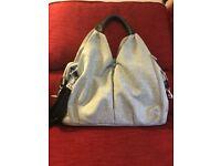 Lassig green label changing bag (black melange), excellent condition