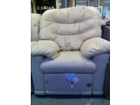 G Plan Cream Leather Arm Chair GT 557
