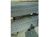 "Heavy Duty Galvanised mesh Panels 84"" x 87"" x 6g"