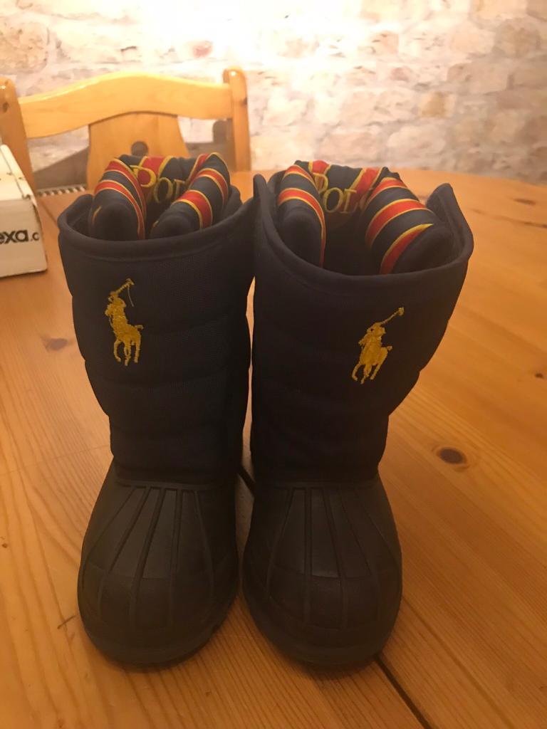Ralph Lauren infant snow boots size 6 (EU23)
