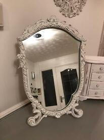 vintage shabby dressing table mirror