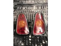 BMW MINI R53 GENUINE OEM PAIR REAR TAIL LAMPS LIGHTS MODELS WITH REVERSE IN BUMPER